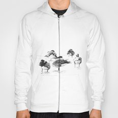 Wild geese pattern black and white Hoody