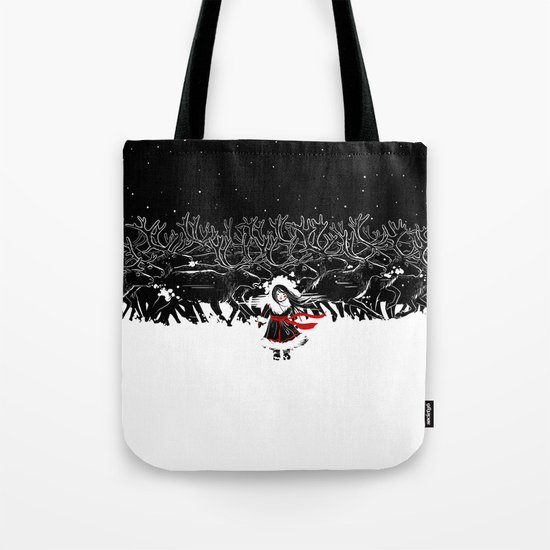 Night of Reindeer Tote Bag