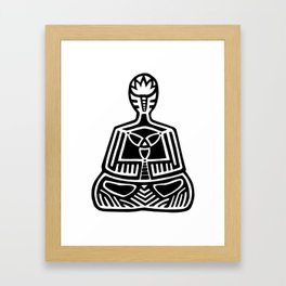 DRAWN MEDITATION Framed Art Print