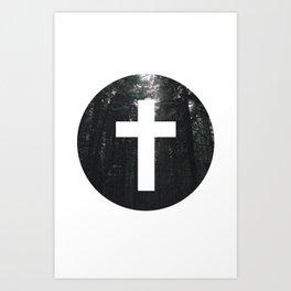 Cross Circle Art Print