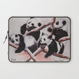 Lazy days Panda's by Machale O'Neill Laptop Sleeve