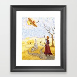 The Hawk of Achill Framed Art Print
