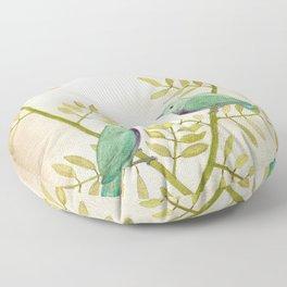 Celadon Birds Floor Pillow