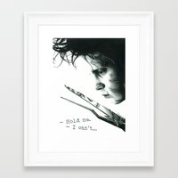 edward scissorhands Framed Art Prints featuring Edward Scissorhands by Simona Borstnar