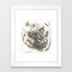 Gorilla Sketch Framed Art Print