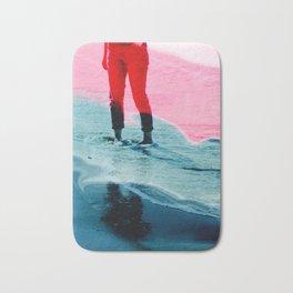 A girl and the sea Bath Mat