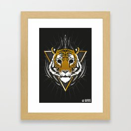 The Blackout Tiger Framed Art Print