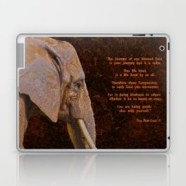Compassion - Elephant and Quote Laptop & iPad Skin