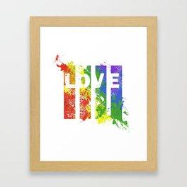 LOVE/COLOR Framed Art Print