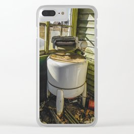 Washing on the Front Porch Clear iPhone Case