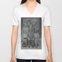 politics V-neck T-shirts featuring Office Politics by LeeBoydArtist