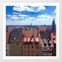 German Skies Art Print