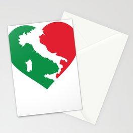 Italia Heart - I Love Italy - Io amo l'Italia Stationery Cards