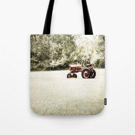 Vintage Red Tractor Tote Bag