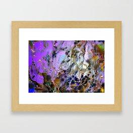 Underwater Violet Framed Art Print