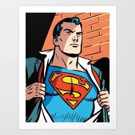 Classic Superman Art Print