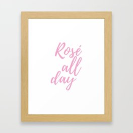 pink all day Framed Art Print