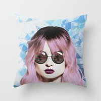 paradise Throw Pillows featuring Paradise by BTP Designs