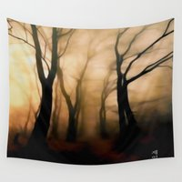 fog Wall Tapestries featuring Fog by Nev3r