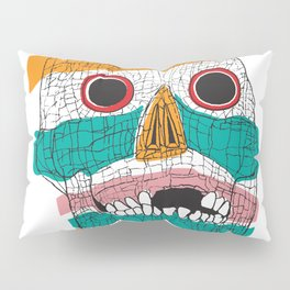 Stripy Skull  Pillow Sham