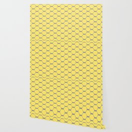 Grey and Yellow Hexagons Wallpaper