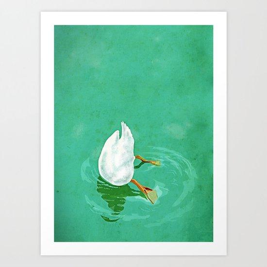 Duck diving Art Print