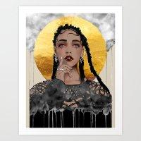 fka twigs Art Prints featuring FKA Twigs by Sara Eshak