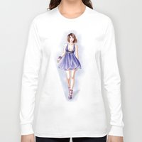 fashion illustration Long Sleeve T-shirts featuring Fashion illustration by Tania Santos