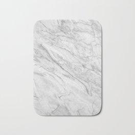 White Marble 008 Bath Mat