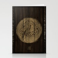 skyrim Stationery Cards featuring Shield's of Skyrim - Whiterun by VineDesign