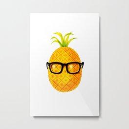 Mr. Pineapple Metal Print