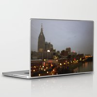 nashville Laptop & iPad Skins featuring Nashville Lights by Long Mountain Prints