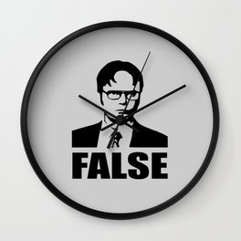 False funny saying Wall Clock