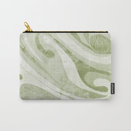 Abstract Green Waves Design Carry-All Pouch