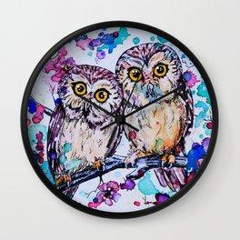 Three Little Owls Wall Clock