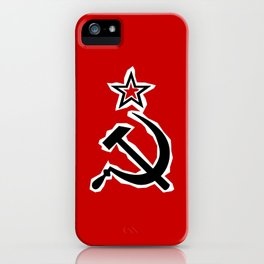 Hammer and Sickle Grunge iPhone Case