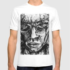Loneliness Mens Fitted Tee MEDIUM White