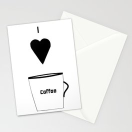 I Love Coffee Stationery Cards