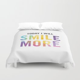 New Year's Resolution - TODAY I WILL SMILE MORE Duvet Cover