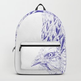 she's a beauty drawing, blue Backpack