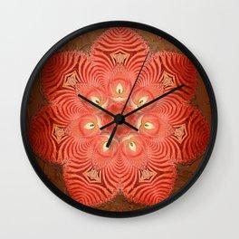 Antique Paper Rose Wall Clock