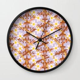 lilac jardim Wall Clock