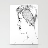 miley cyrus Stationery Cards featuring Miley Cyrus by Kfort