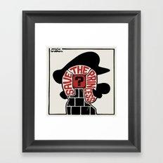 Save The Princess Framed Art Print