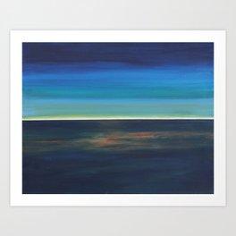 Shuttle Sunset Art Print