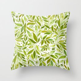 Leafy Green Throw Pillow