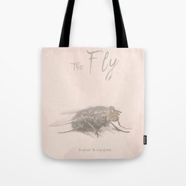 The Fly - Movie poster from David Cronenberg's classic horror film with Jeff Goldblum Tote Bag