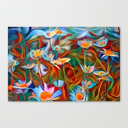 Psychedelic Daises Canvas Print