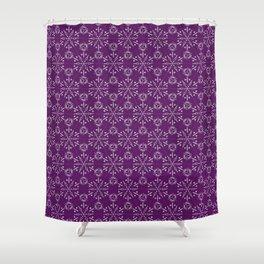 Hexagonal Circles - Elderberry Shower Curtain