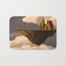 Fishing in the Clouds Bath Mat